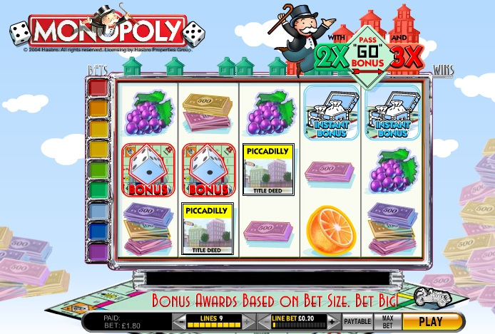 free casino game online monopoly board