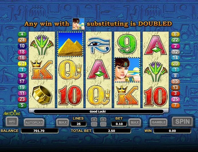 free slots queen of the nile