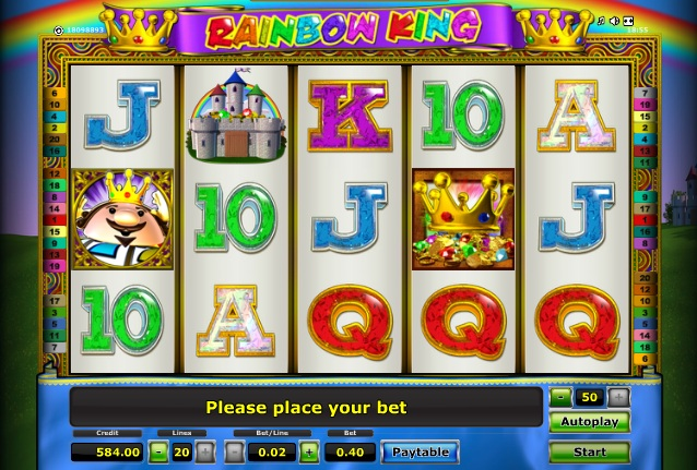 play casino online for free rainbow king