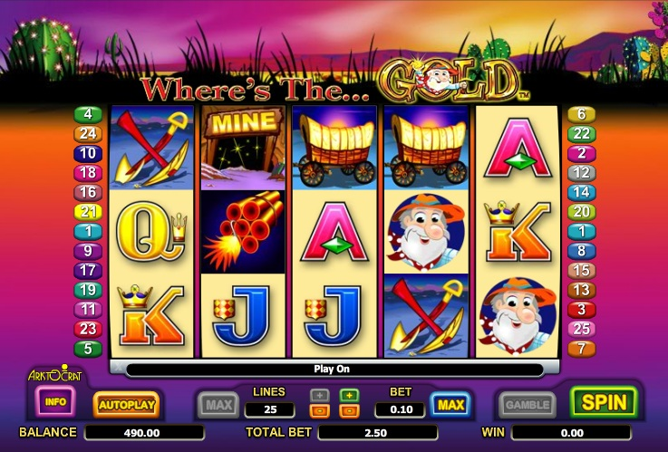 play free slots wheres the gold
