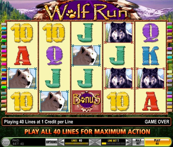 free slot games wolf run