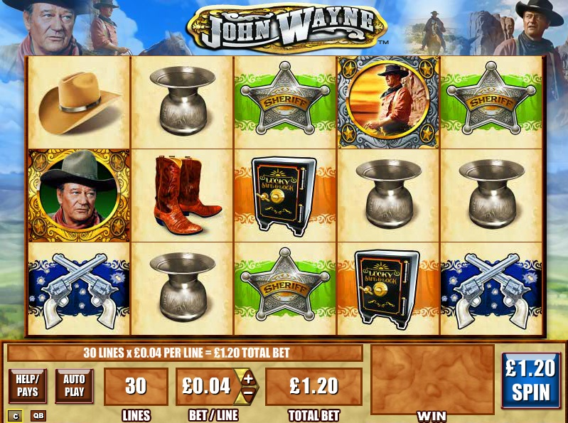 Play John Wayne online slots at Casino.com
