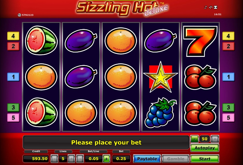 sizzling hot slot machine free
