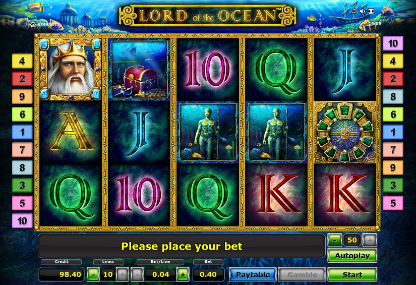 free online slots lord of the ocean