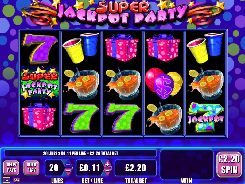 free slot machine jackpot party
