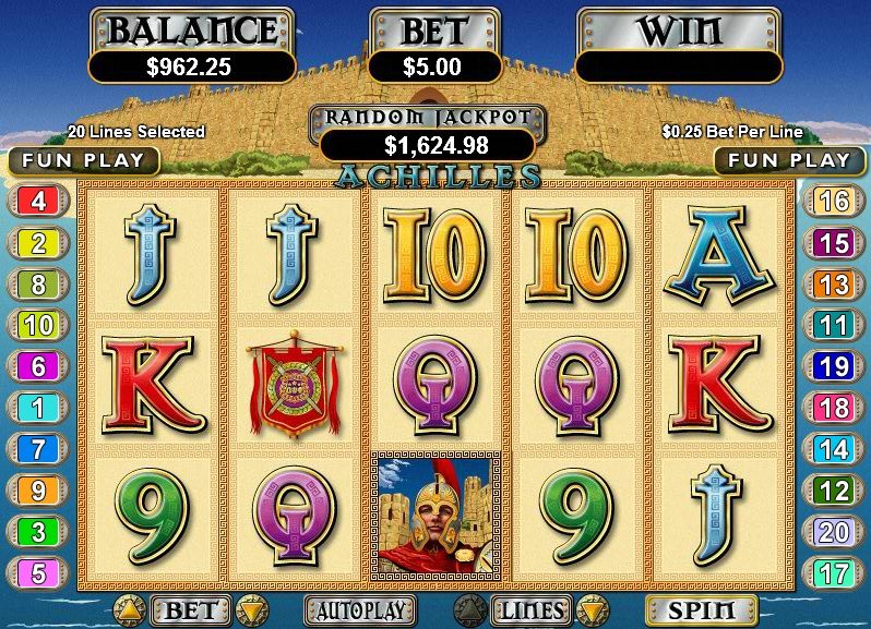 Achilles Slot Machine by RTG – Play for Free or Real Money