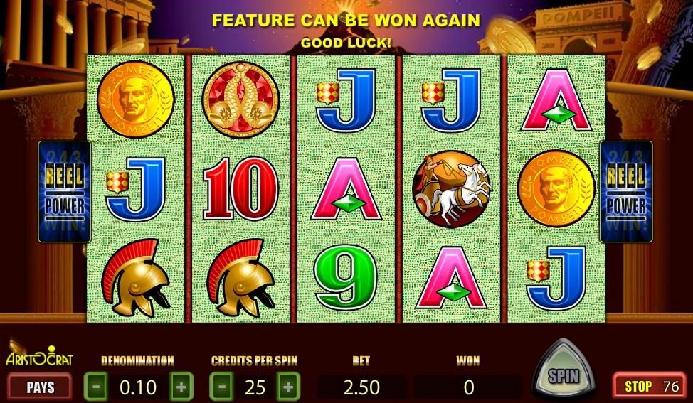 Pompeii™ Slot Machine Game to Play Free in Aristocrats Online Casinos