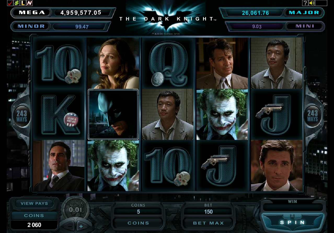The dark knight rises online slot review