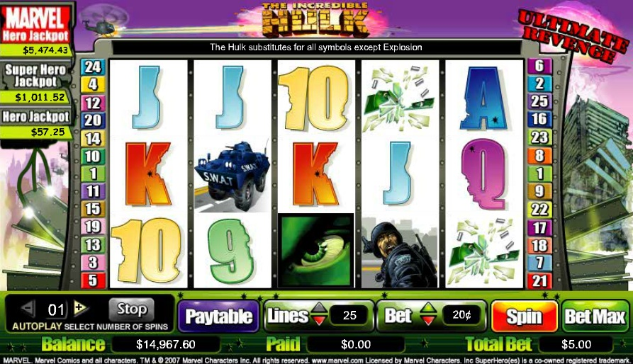 The Incredible Hulk: Ultimate Revenge Slot - Play Online