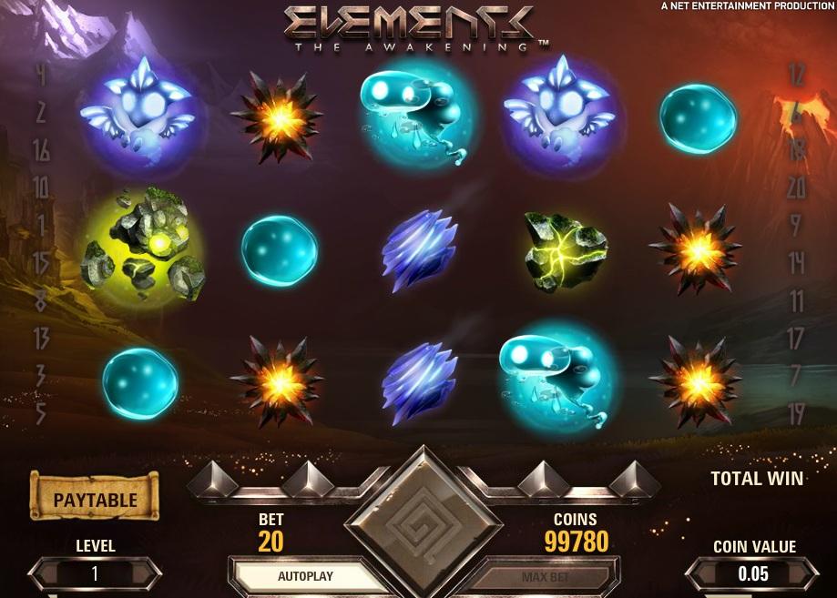 netent games elements