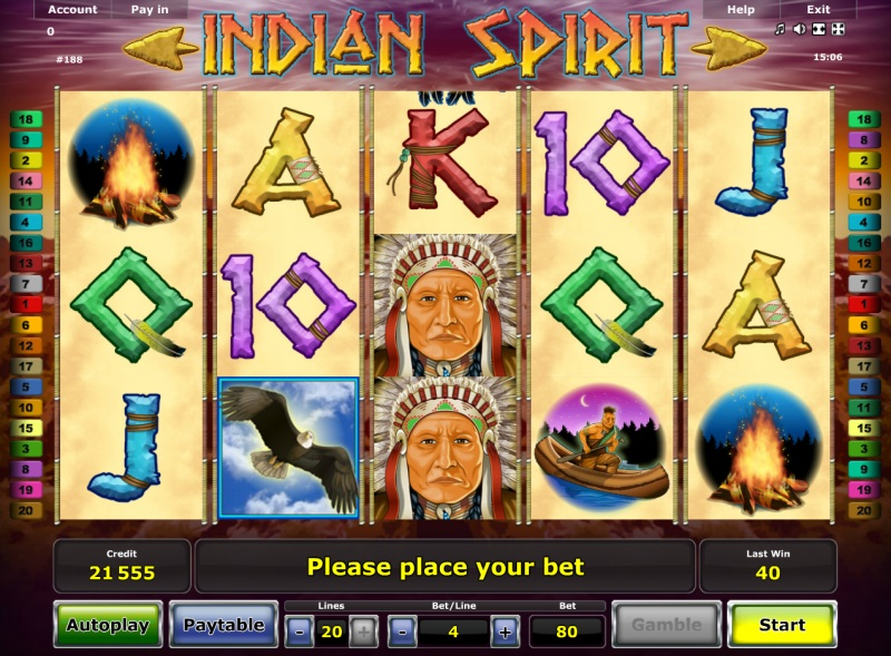slot casino online indian spirit