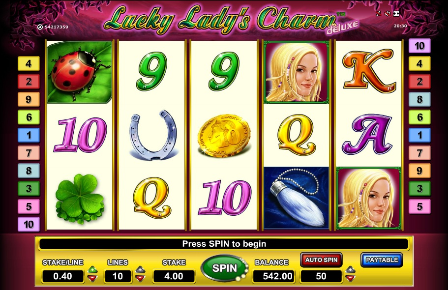 slot machine lucky lady charm