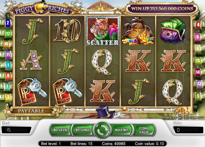 Piggy Riches – kostenloser mobiler Video-Slot