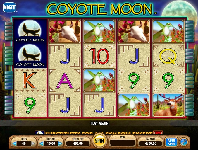 Play Coyote Moon Slot Machine Game for Free Spins Online