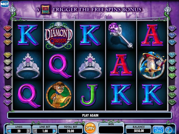 free diamond queen slot games