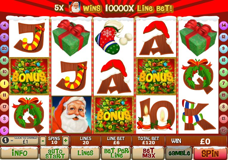 Santas Kiss Slots - Find Out Where to Play Online