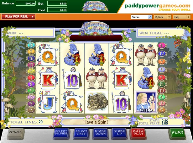 Adventures in Wonderland Slots - Play Alices Wonderland Online