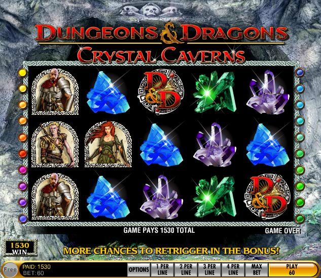 Dungeons And Dragons Crystal Caverns Slot IGT Online Developer