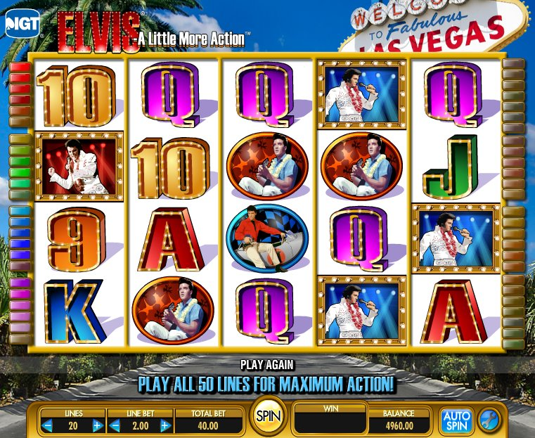 Elvis A Little More Action™ Slot Machine Game to Play Free in IGTs Online Casinos