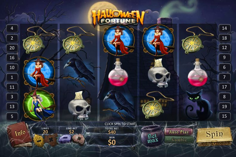 Play Halloween Fortune online slots at Casino.com