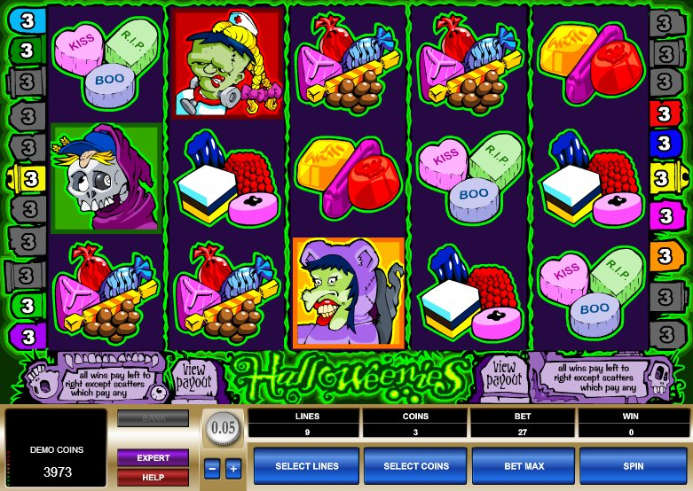 Halloweenies slot - spil online gratis straks