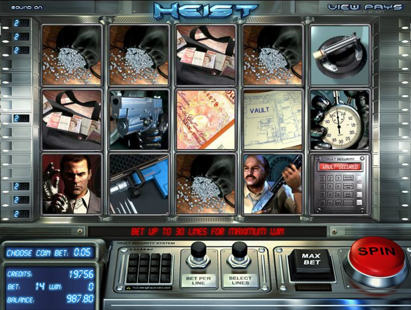 Heist Slots - Play Heist Slots from BetSoft for free