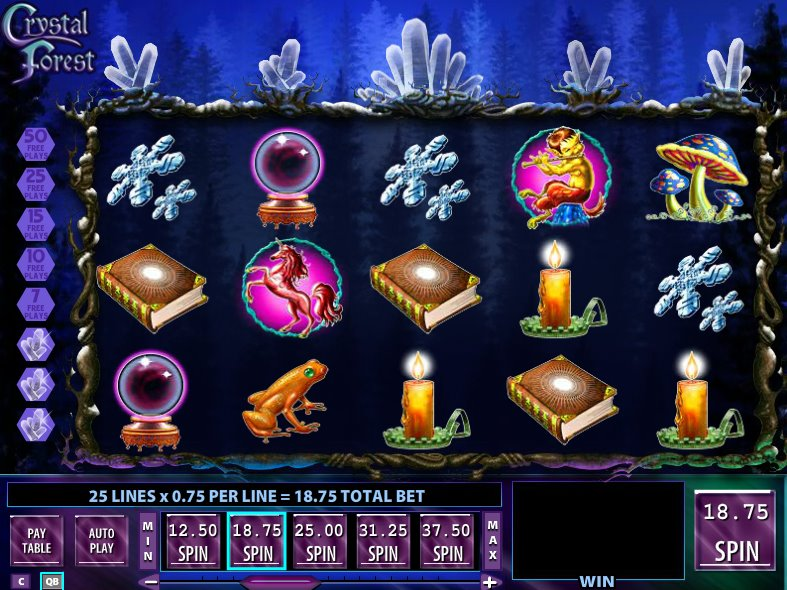 crystal forest free plays slot