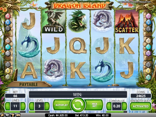 online slots games dragon island