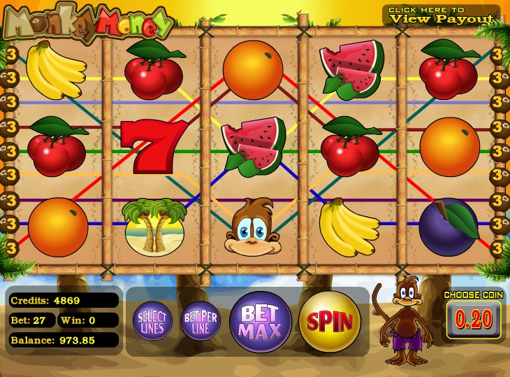 Monkey Money Slots - Monkey Money Slots from BetSoft - play for free