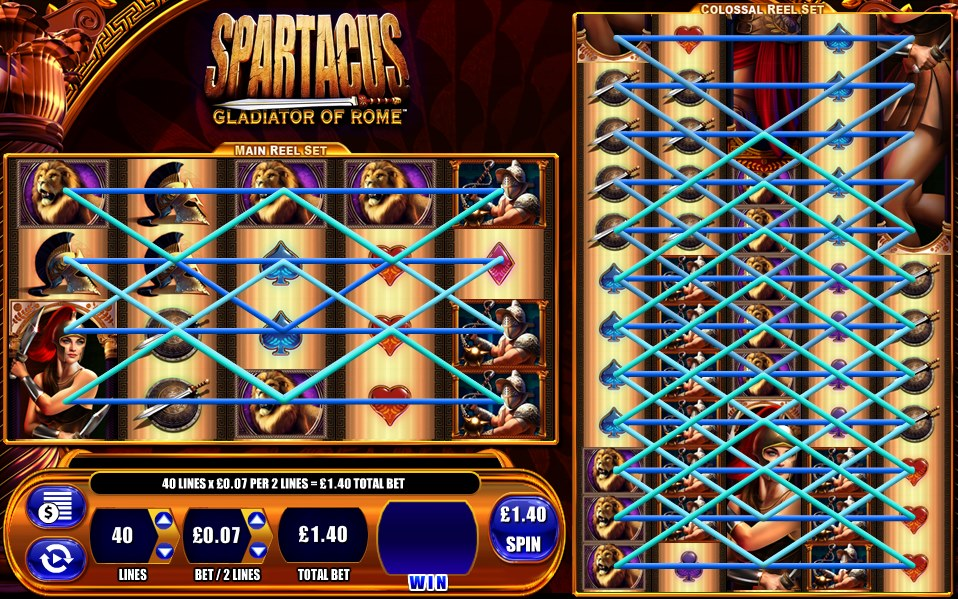 Spartacus video slot game