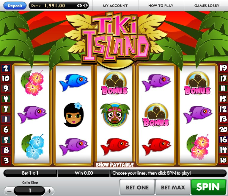 Tiki Lounge Slots - Play this Video Slot Online