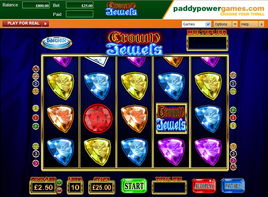 Crown jewels slot game