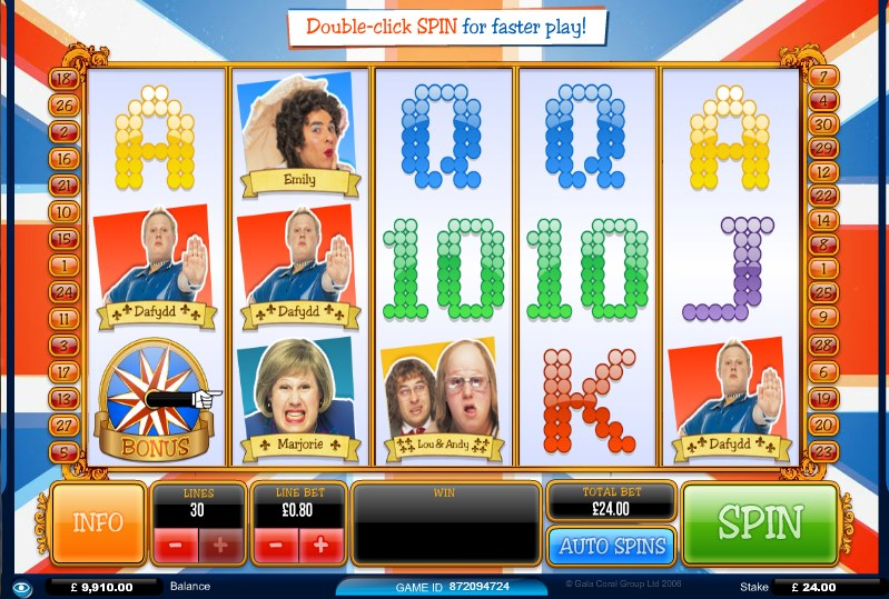 Little Britain Slots - Play TV Slot Games Free