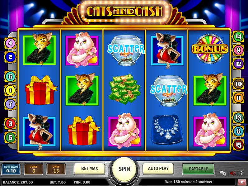 Cats and Cash™ Slot Machine Game to Play Free in Playn Gos Online Casinos