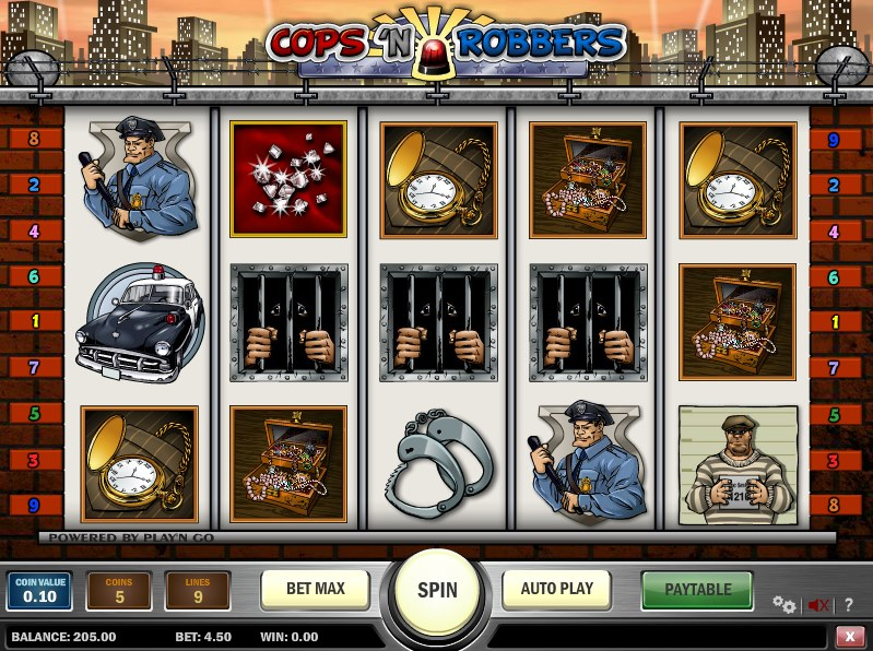 casino slots for free online cops and robbers slot