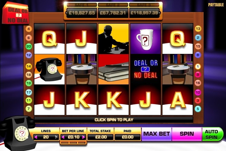 free online slot deal or no deal