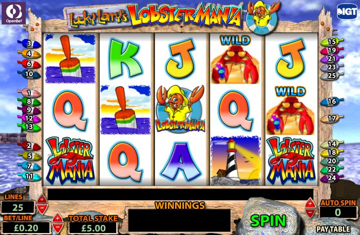 free casino lobstermania slots