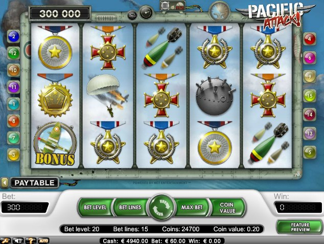 Pacific Attack - gratis at spille WWII slot