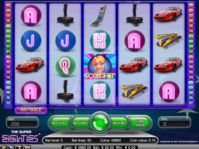 Super Eighties - 1980s Era Video Slot