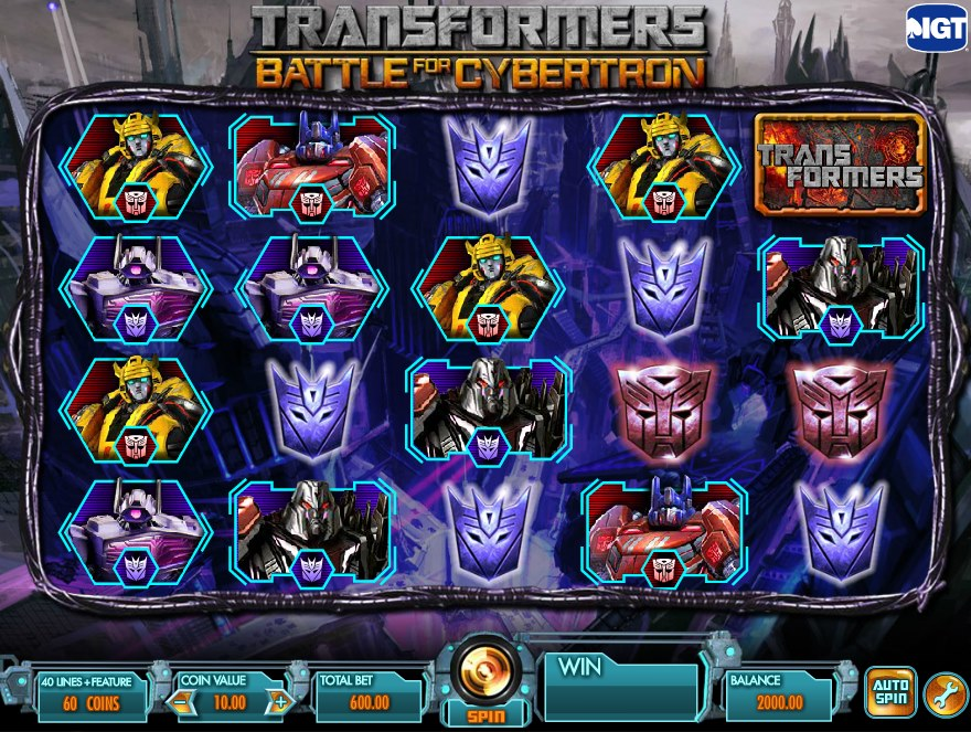 Transformers battle for cybertron slot machine livraison courses a domicile geant casino