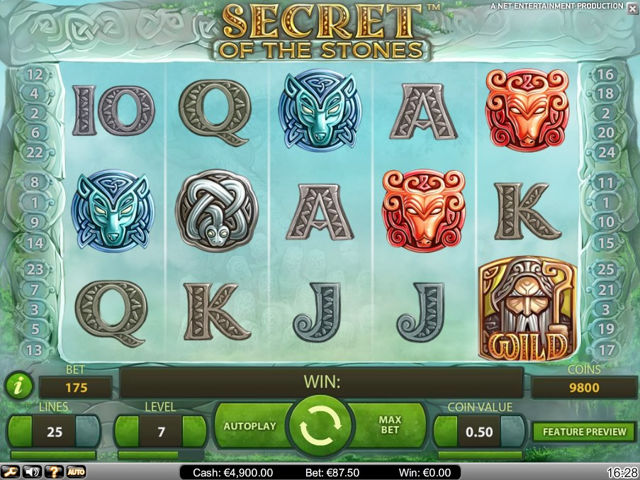 Secret of the Stones Slot - Spela Secret of the Stones Slot