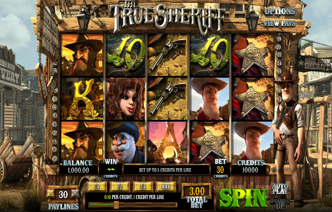 True Sheriff Slots - Play the True Sheriff Slot Online