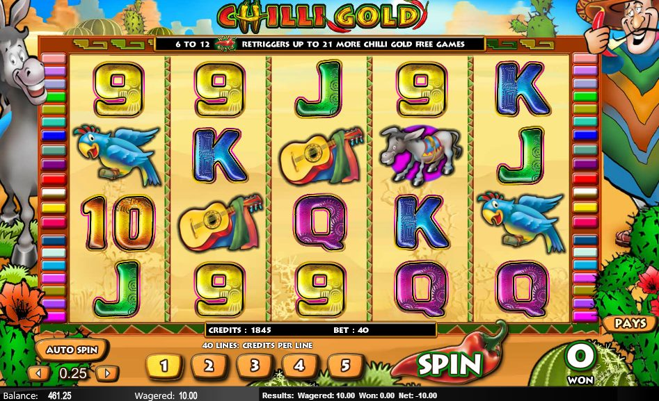 Chilli Gold™ Slot Machine Game to Play Free in NextGen Gamings Online Casinos