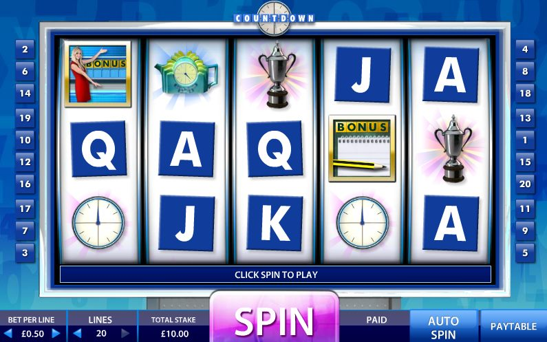 Countdown Online Slot Game TV Endemol Games