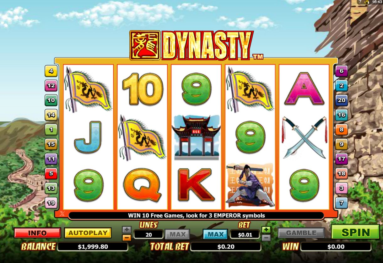 First Dynasty Slot - Play Online Video Slots for Free