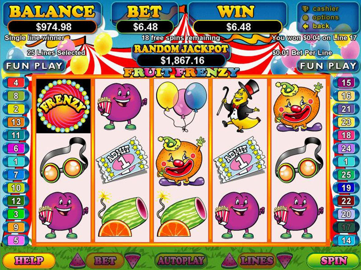 fruit frenzi slot machine