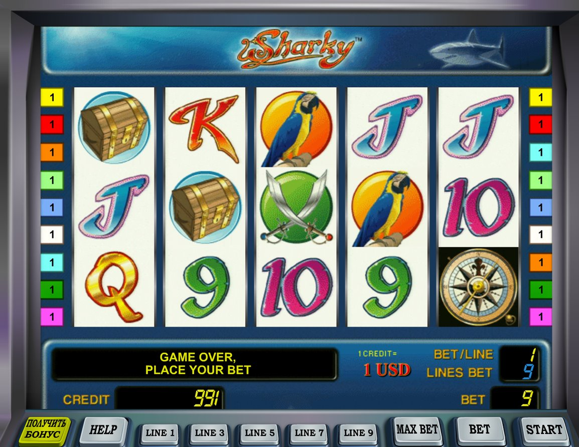 online casino jackpot sharky slot
