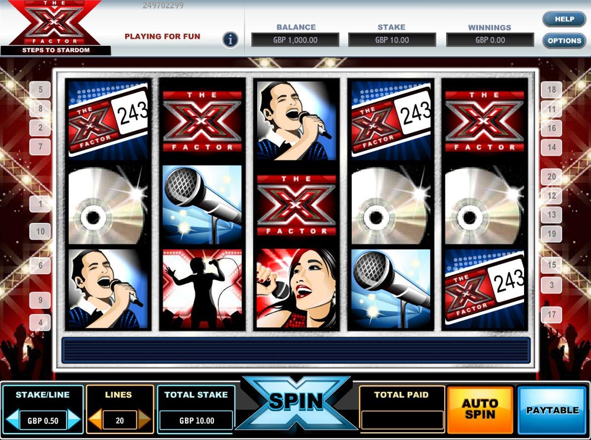 X Factor Steps To Stardom Slot Machine