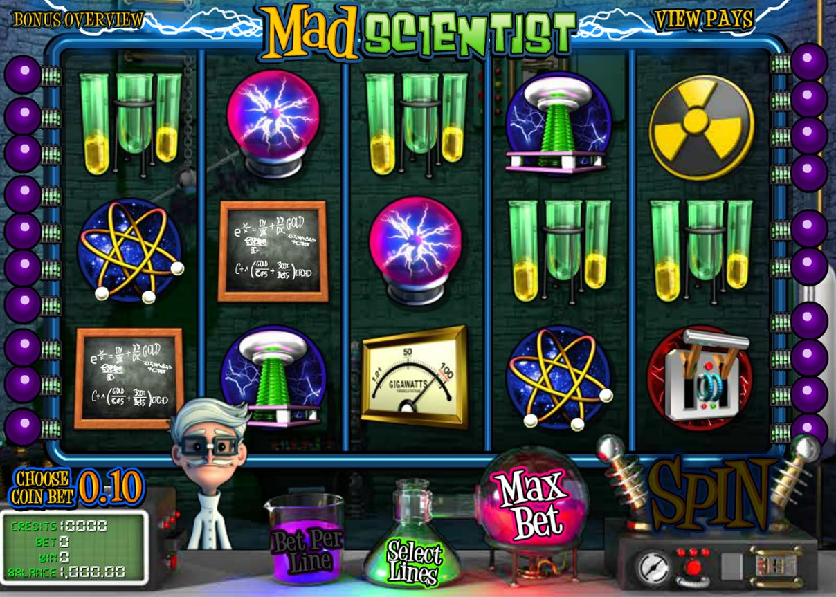 Mad Scientist Slots - Play the Mad Scientist Slot