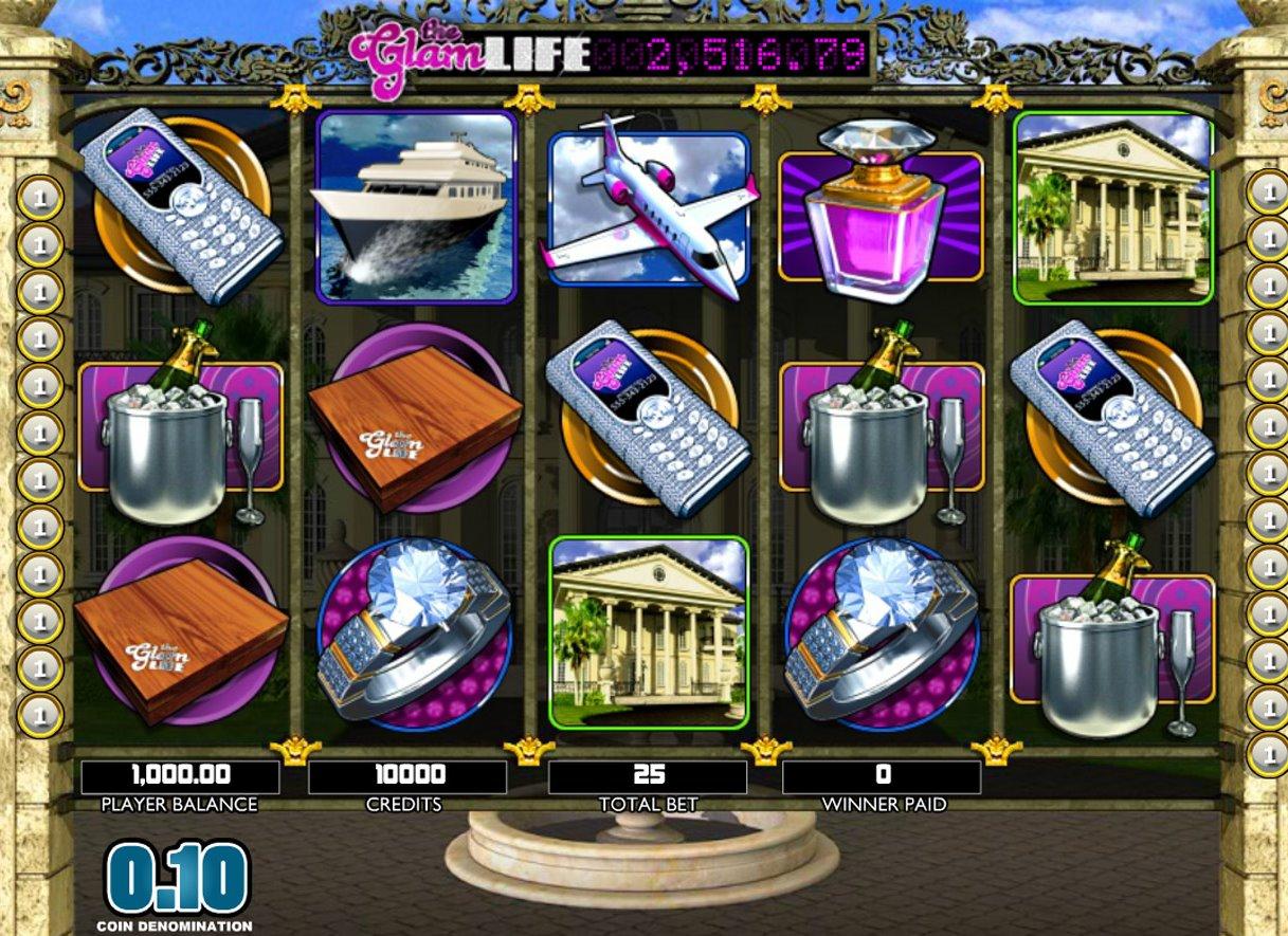The glam life slot machine
